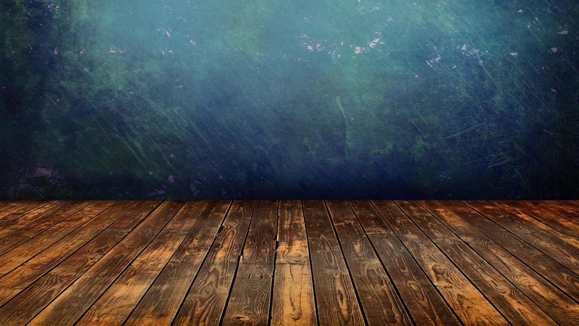 Grunge interior blue